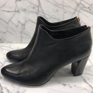Aerosole heelrest black leather booties